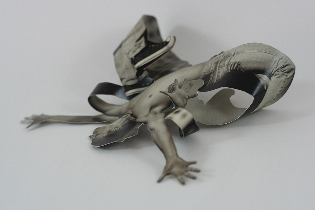 Mary Wemple. Moth, 2015, Sculpted collage, 6.5 x 5.5 x 2.5 inches, $150