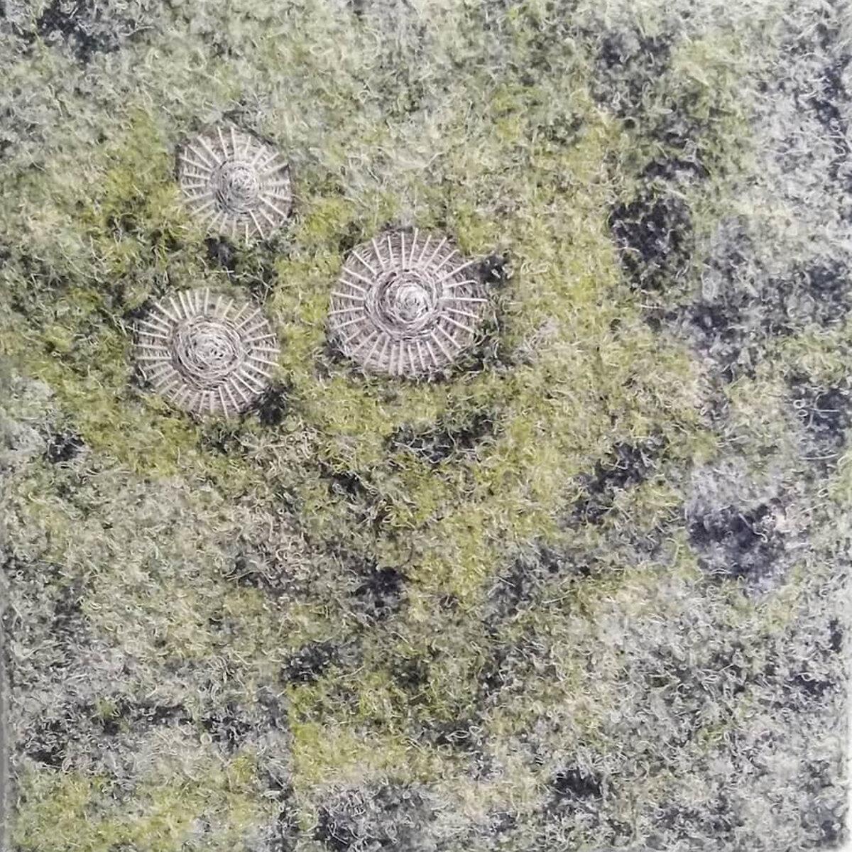 Soft Green Wall (2019) Textiles, 20 x 20 x 2 cm, £225