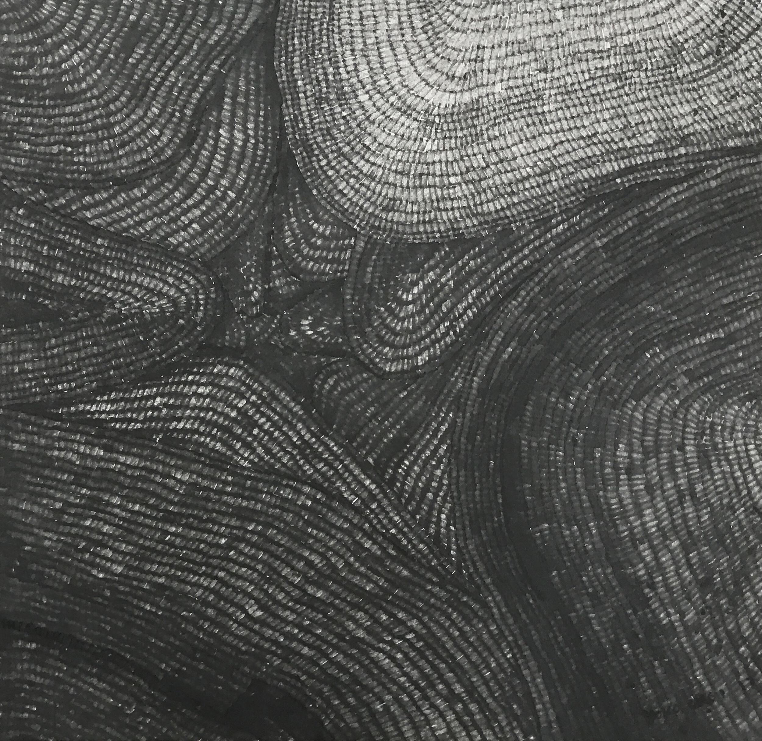 Summit, 2017, marker pen on rice paper, 50 cm x 50 cm, 2800