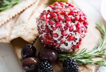 Easy Festive Herbed Cheese Ball
