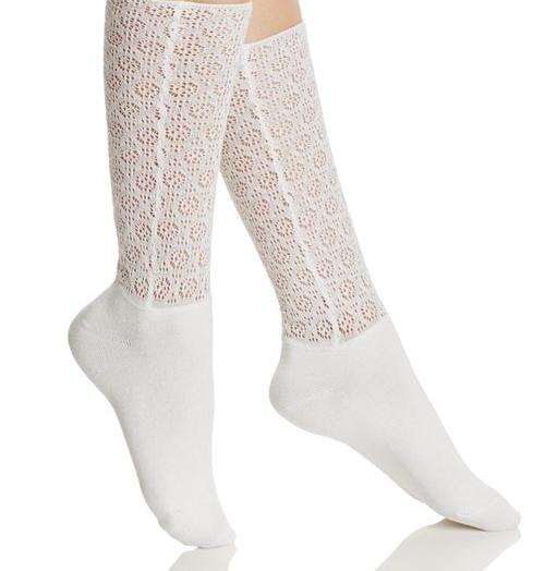 Open-Knit Crew Socks,  Natori. $6.75