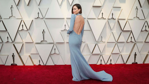 Charlize Theron in pale blue Dior Haute Couture