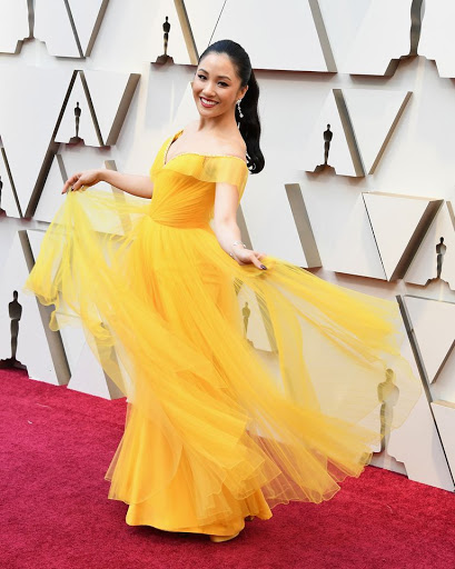 Belle of the ball, Constance Wu took our breaths away in custom Versace and Atelier Swarovski jewelry.
