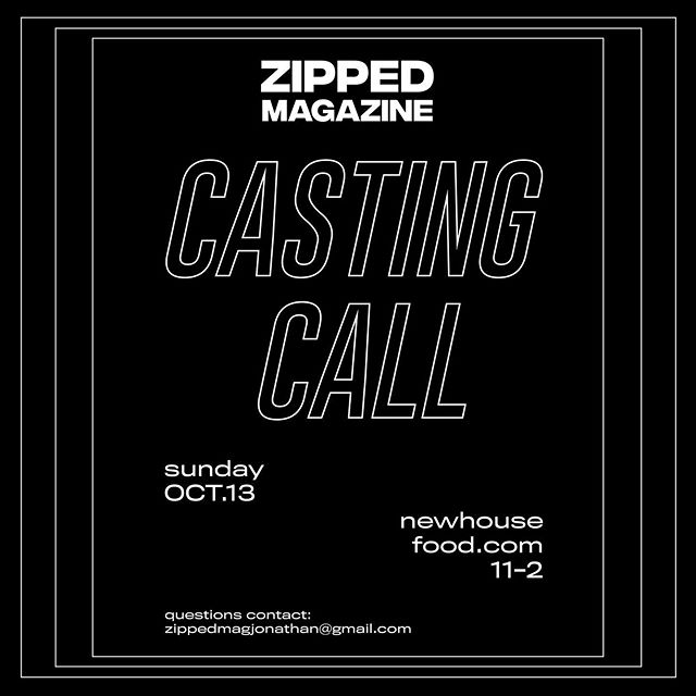 We're having a model casting this SUNDAY, October 13 from 11 AM-1 PM. ALL humans are welcome, not just the typical industry model-y type, but people of different body types, races, etc. Show face if you're interested.