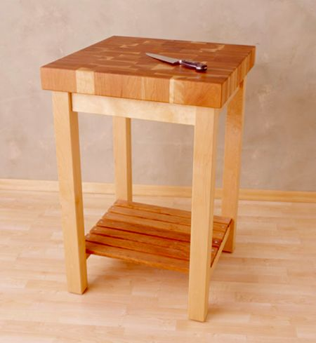 Maple & Cherry Work Table - 3