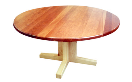 Cherry Plank Table & Maple Pedestal - Natural Finish60