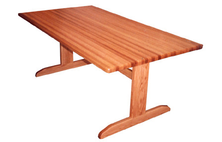 Oak Butcher Block Trestle Table - Natural FinishTrestle Base1.5