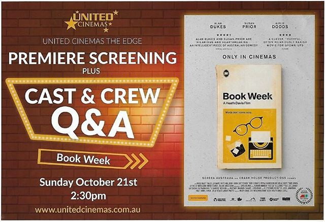 Book Week Katoomba premiere tix now on sale!!!! Strictly limited so hurry!!! https://tickets.unitedcinemas.com.au/tickets.php?location=katoomba&session=39708 #katoomba #bluemountains @bmregionalchamber @thehazemag @thecarringtonhotel @scenicworld_aus @theedgeunitedcinemas