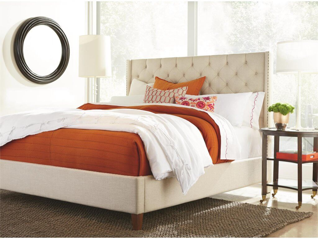 4-Beautiful-Bed-Styles-for-an-Easy-Room Makeover-upholstered-bed-universal-furniture-kathleen-jennison-interior-designer