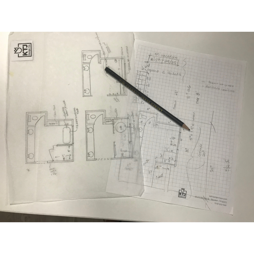 Our on the spot schematic sketches to stimulate brain storming and out of the box thinking