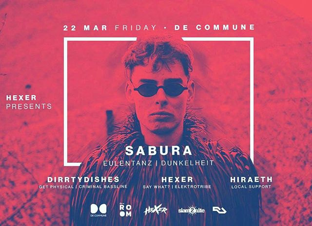 So happy to hosting this beautiful producer & DJ @sabura.hh in #bangkok again tonight alongside with @dirrtydishes_official and @myfall_leaves at city's proper sweatbox @decommune 🔥 If you are around come early tonight for the last rave before #thailand election weekend. #hexer