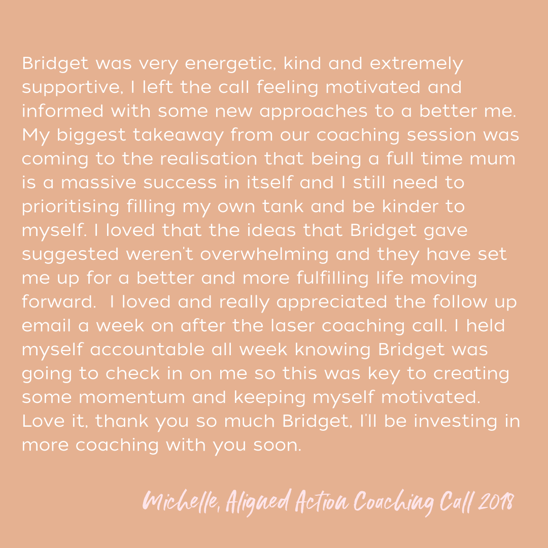 Deciding to work with Bridget was the first time that I decided to really invest in myself and put my goals first. Our first session was the most enlightening and empowering conversation that I've had in a very long  (3).png