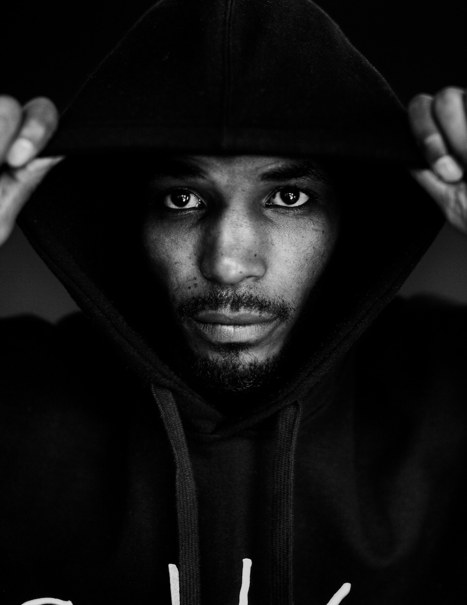 In honor of Trayvon Martin's 20th birthday today: hoodies up! (This is Tommie, a protester in St. Louis/Ferguson.)