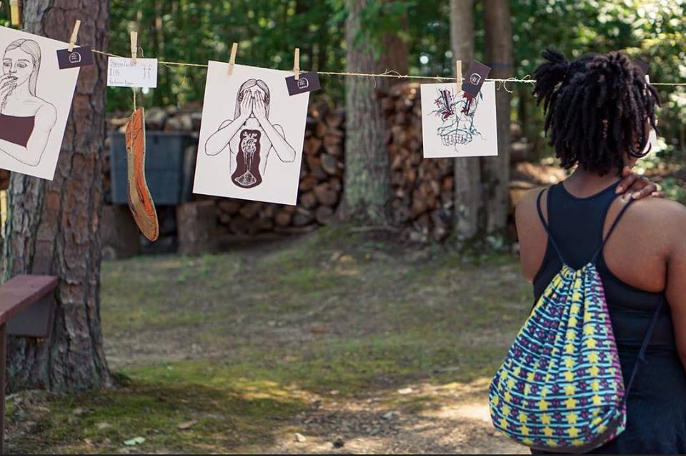 An exhibit curated and installed by young gifted and broke at the 2nd annual Free Things in Life Festival. Photo courtesy of Free Things in Life NC.