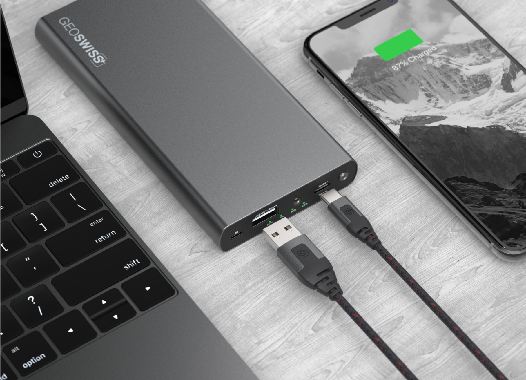 Keep your devices on the go - GeoSWISS Charging