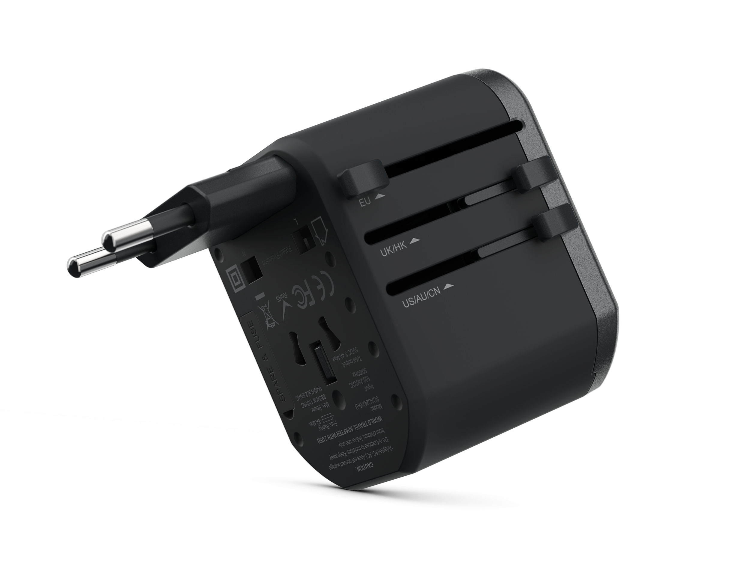 Universal Travel Adapter Dual Port USB-A - The Universal Travel Adapter Dual Port USB-A is our most compact design. It is designed for savvy travelers who have 1-2 portable devices to charge, plus a laptop to plug in.