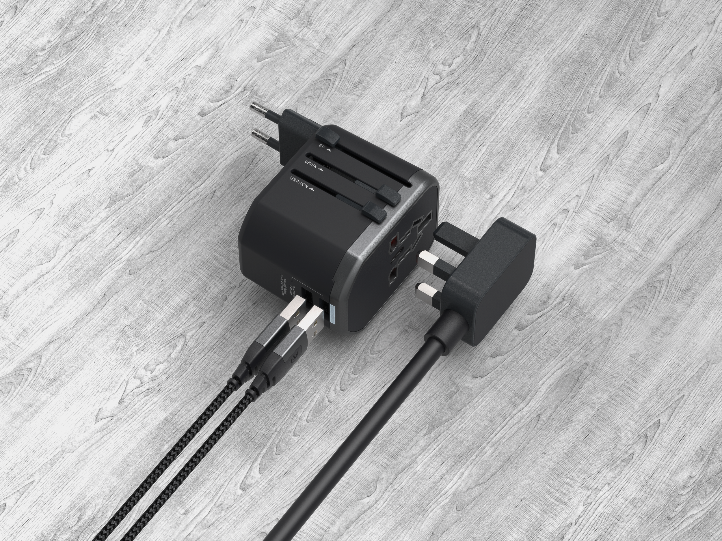 Universal Travel Adapter - All-in-1 Compact Design