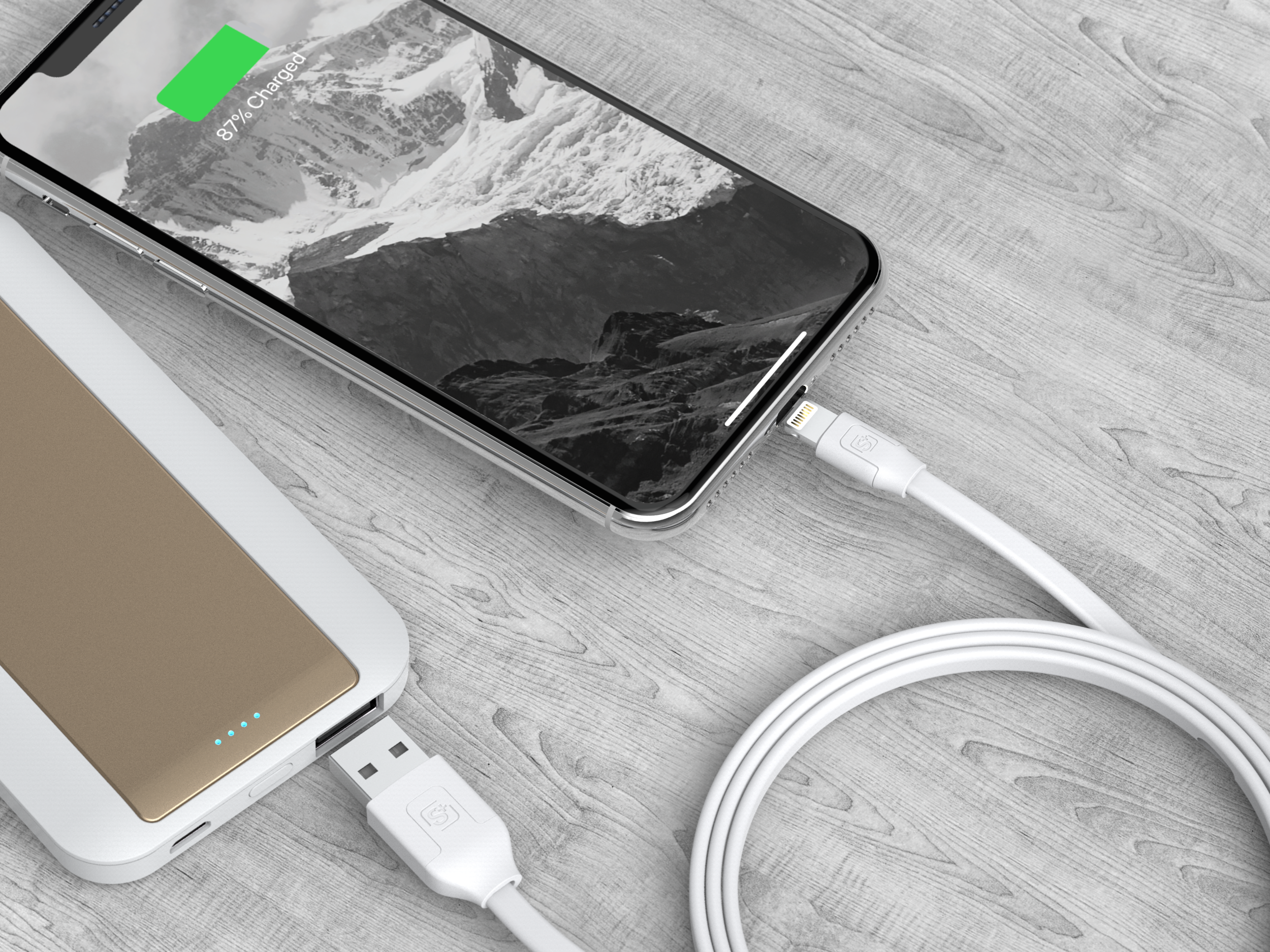 1.2m Tangle-Free Sync/Charge Cable Lightning Connector