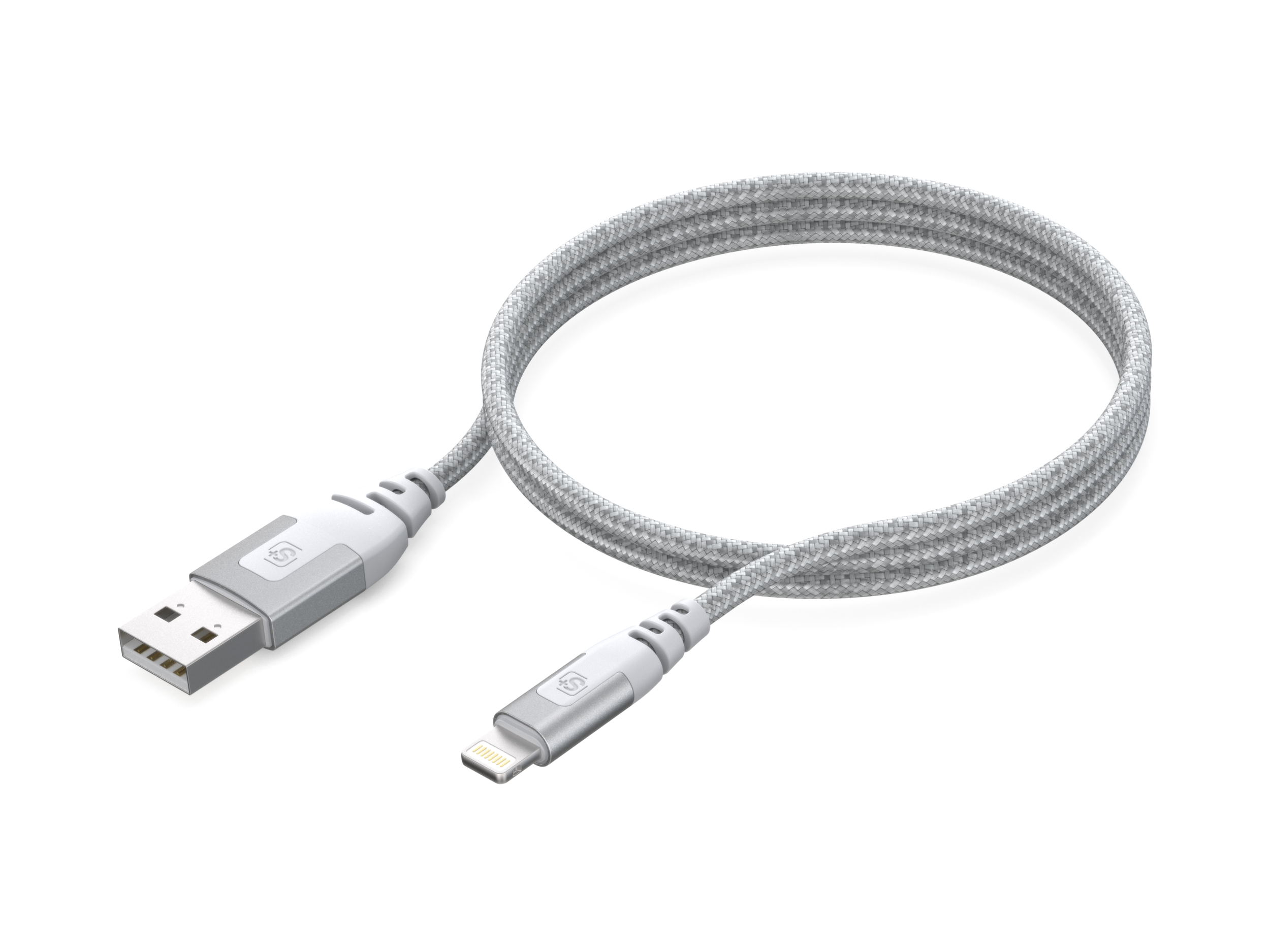 1.8m Armored Sync/Charge Cable Lightning Connector, Silver