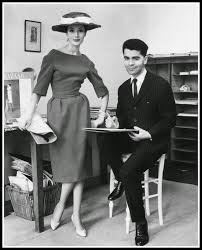Karl Lagerfeld with Gitta Shilling at Jean Patou, 1959