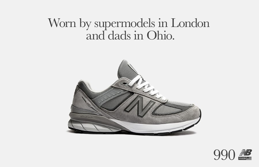 "New Balance Celebrate the 990v5 ""Worn by Dads in Ohio & Supermodels in London"""