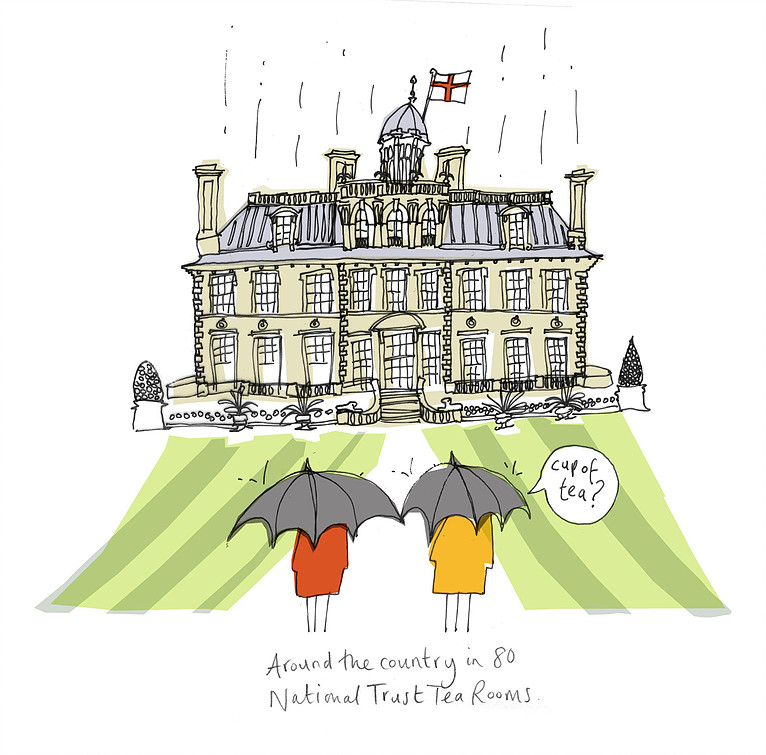 Greetings card commission for National Trust retail