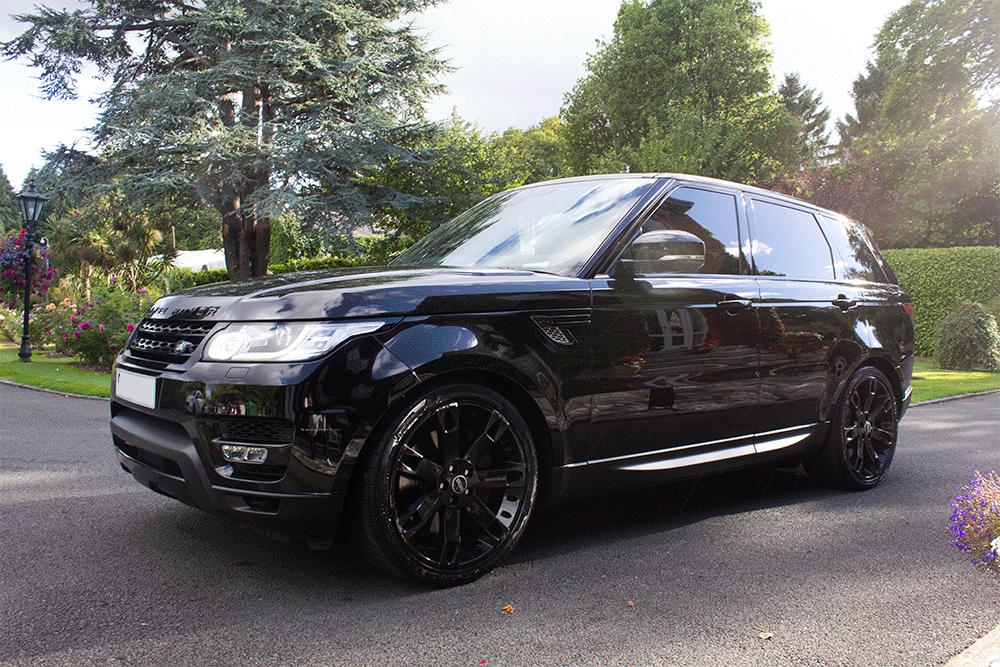 black Range Rover Sport for weddings