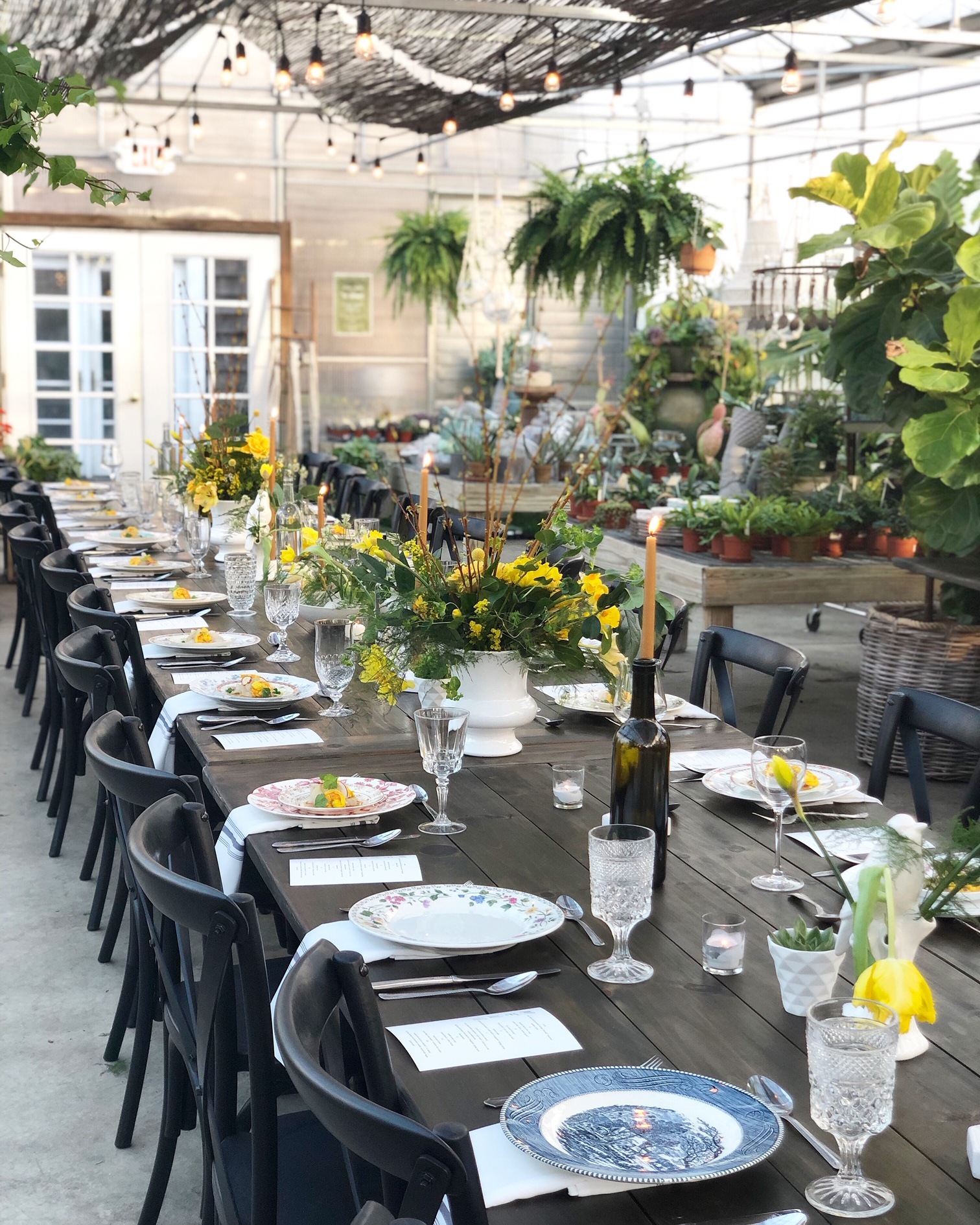 A lovely Greenhouse event catered by our friends Cardinal in Asbury Park