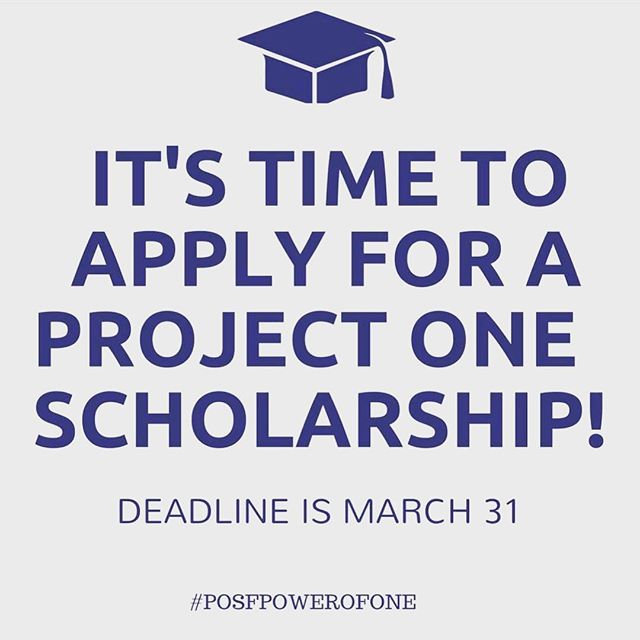 We're accepting applications! Go to www.ProjectOneScholars.org/apply to download and submit the application. Deadline for consideration is March 31!  #charmeckschools #cmsschools #posfpowerofone #classof2019 #highereducation #collegescholarships #collegesupport