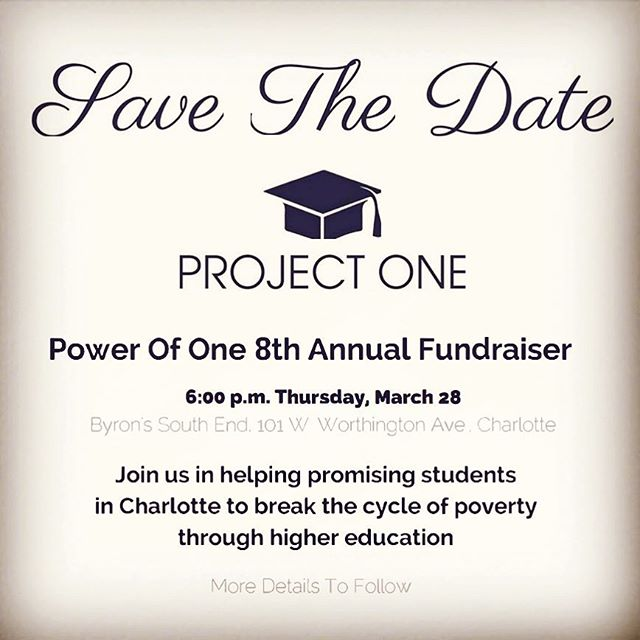 The 2019 Power of One event is March 28 and we're back at @byrons_southend this year! #posfpowerofone #charmeckschools #upwardmobility #leadingonopportunity #charlottenonprofit #nonprofit #wbtv_news #wcnctv #wsoctv #fox46charlotte