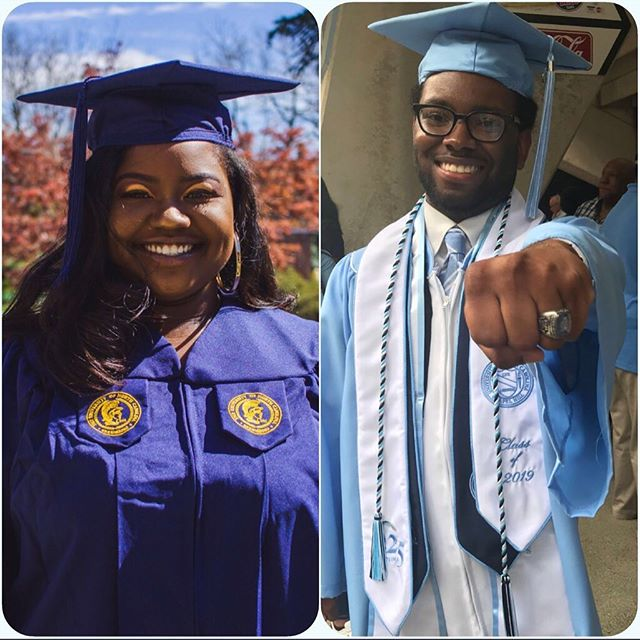 Congratulations to our 2019 graduates, Briana Partlow (UNCG) and Marquise Drayton (UNC)!! Both will start masters programs this Fall. Your Project One family is proud of you!