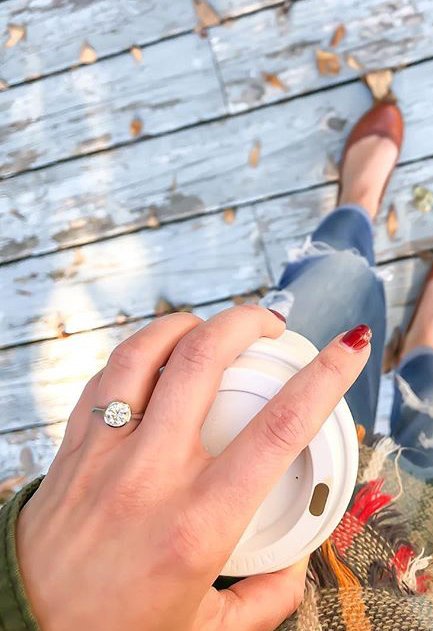 A bezel set diamond engagement ring looks great at the office and holds up well out in the field, but rings are unsafe in some work environments.