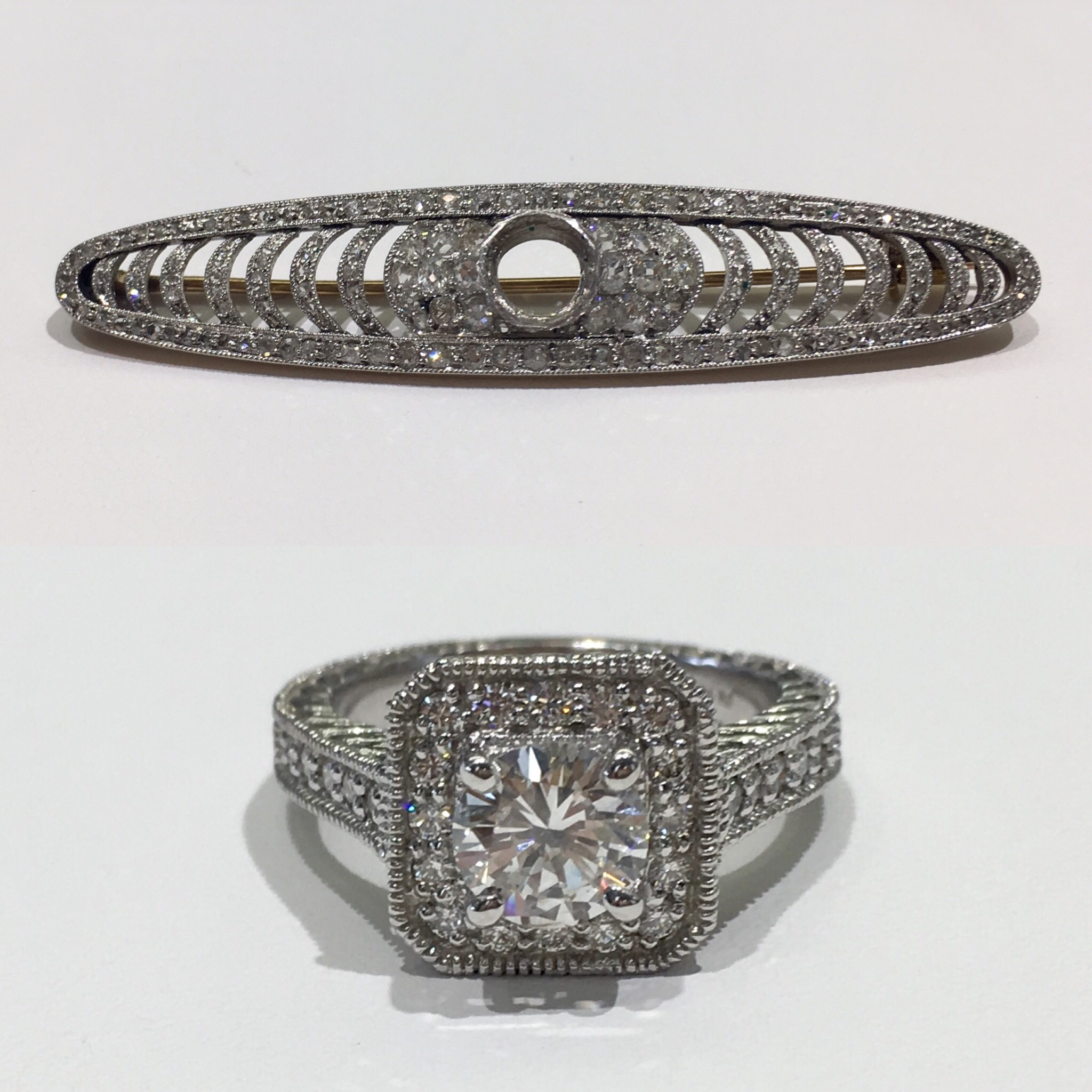 Creating legacy with a grandmother's diamond reset into an engagement ring.