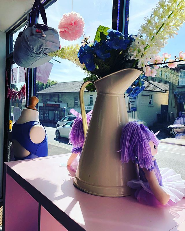 Don't miss our stunning spring window! Filled with beautiful leotards and great gifts 💙💜