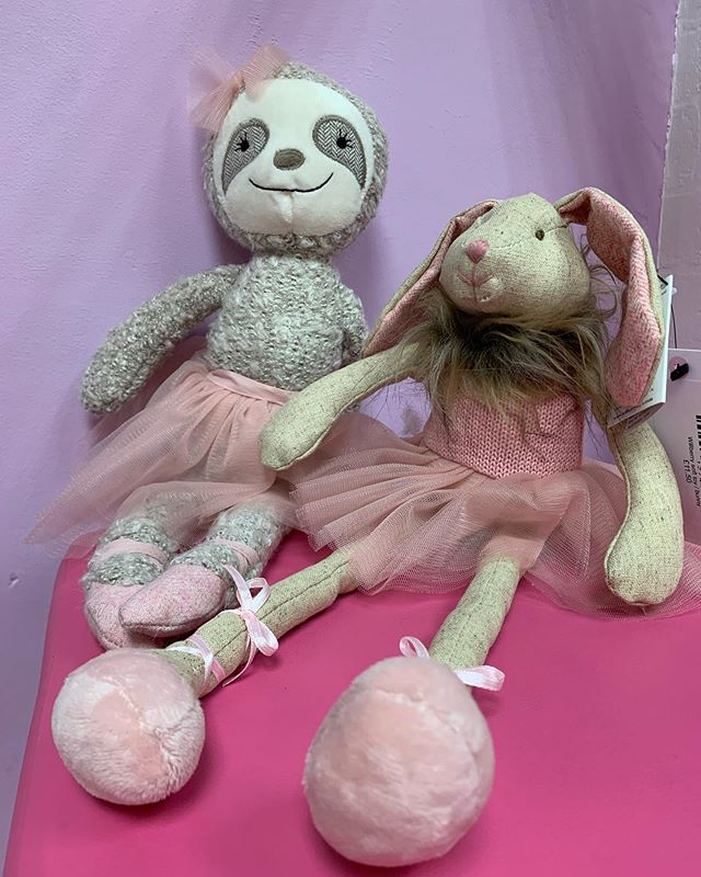 We are proud to now be selling the brand Wilberry, we are in love with the sloth and rabbit. Perfect stocking fillers or to add on a wish list to Santa 🎅 #dance #softtoy #ballet