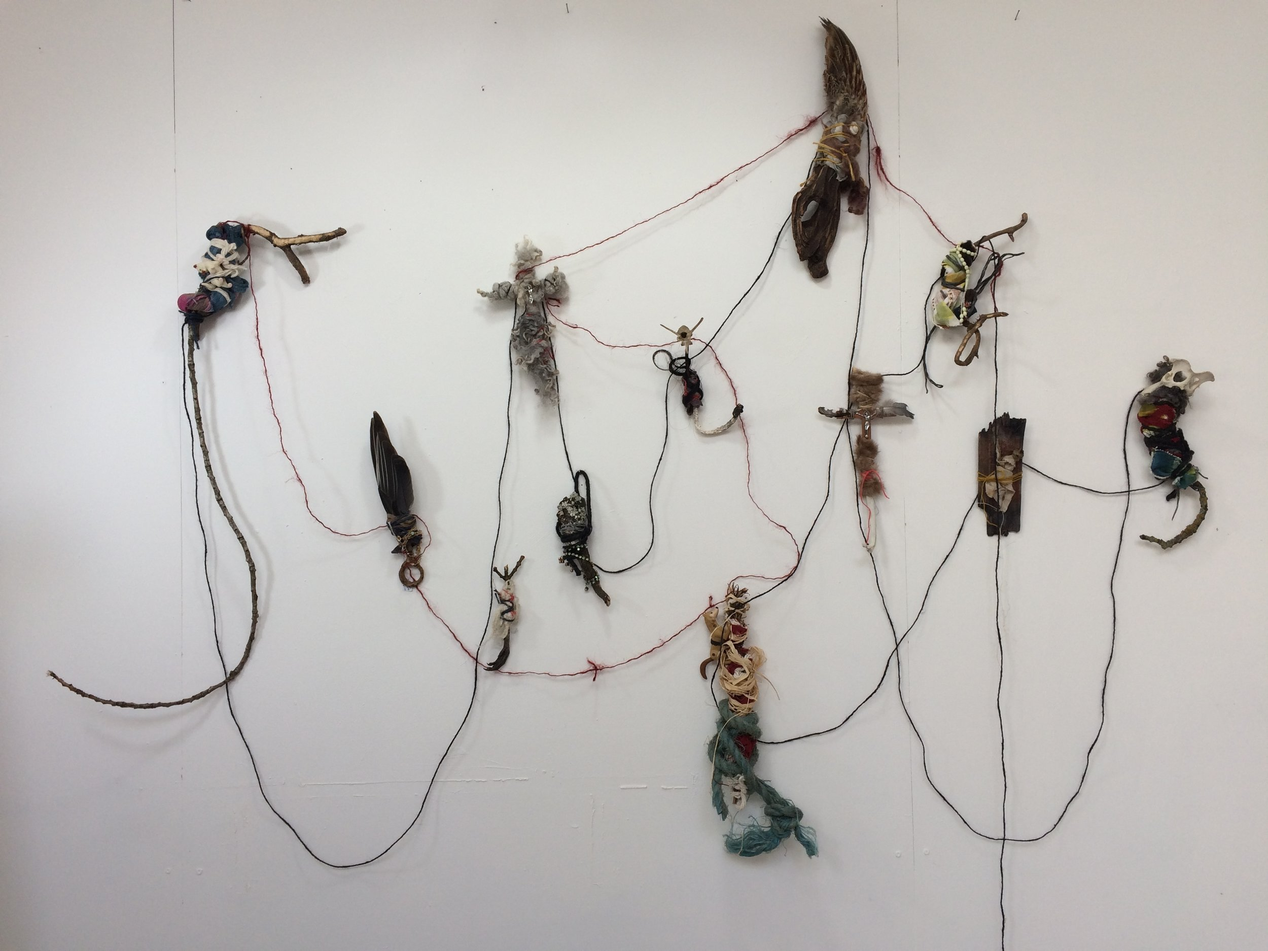 We are all Connected,  2018 wall installation, dimensions variable