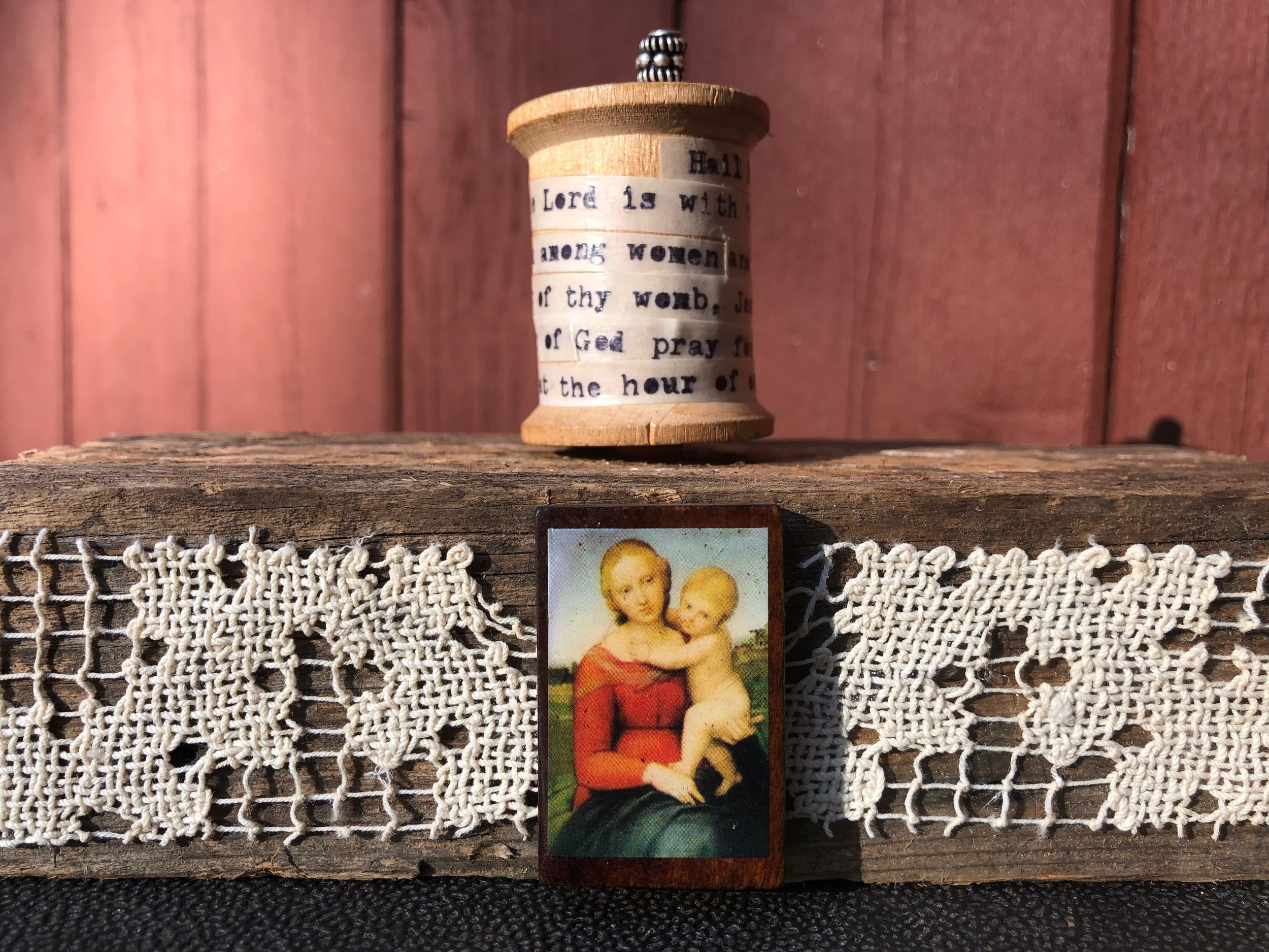 Prayer Spool - this version features the Hail Mary Prayer