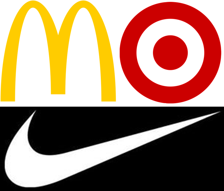 Instantly recognizable logos