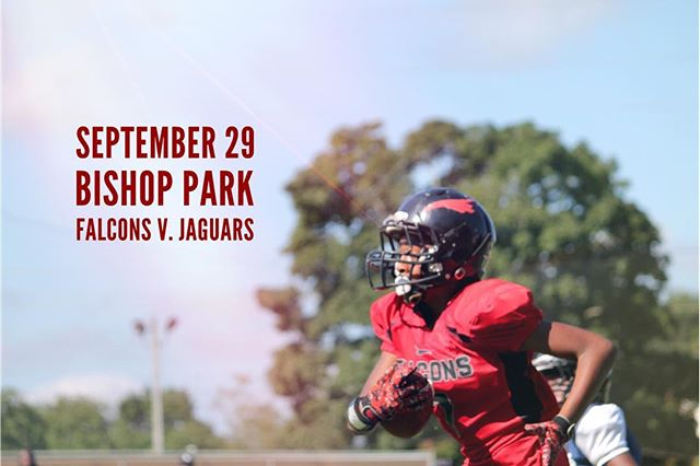 We've got home football games on Saturday- they're gonna be good!  ALSO we could use some extra volunteers to help run the concessions from 9:30-12:30 and 12:30-3:30. Please consider helping out! Just send us a message for more details.  Bishop Park  Seniors 10:00 Juniors 11:30 Pee Wees 1:00 Midgets 2:30