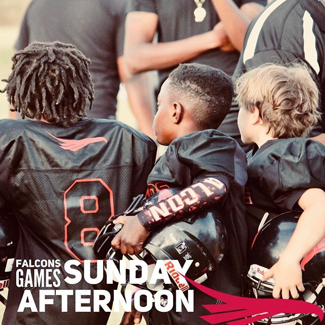 You don't want to miss Sunday- they are going to be great games!  Vs. North Oconee Titans  North Oconee High School  Midgets 2:00 Juniors 3:00 Pee Wees 4:30 Seniors 5:30 #downtownfalcons #downtownfalconsfamily #athensfootball #athensga #youthfootball