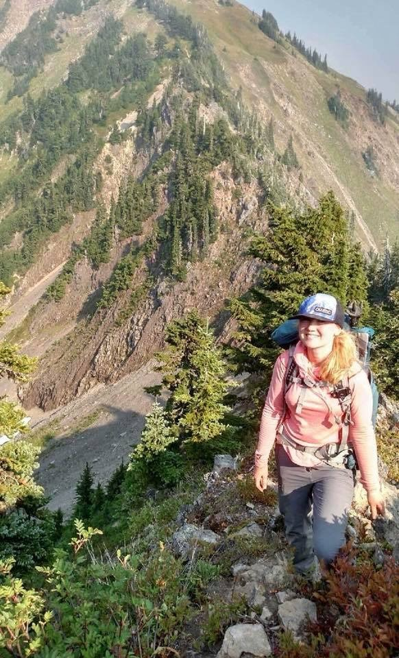Heather Johns Stage 4 Breast Cancer. hiking in the Olympic Mountains