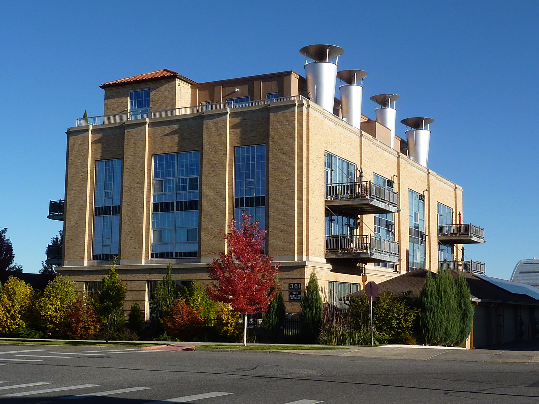 Northwest view of Steam Plant Lofts