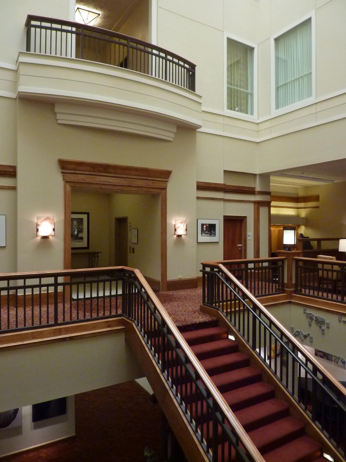 View of atrium stair