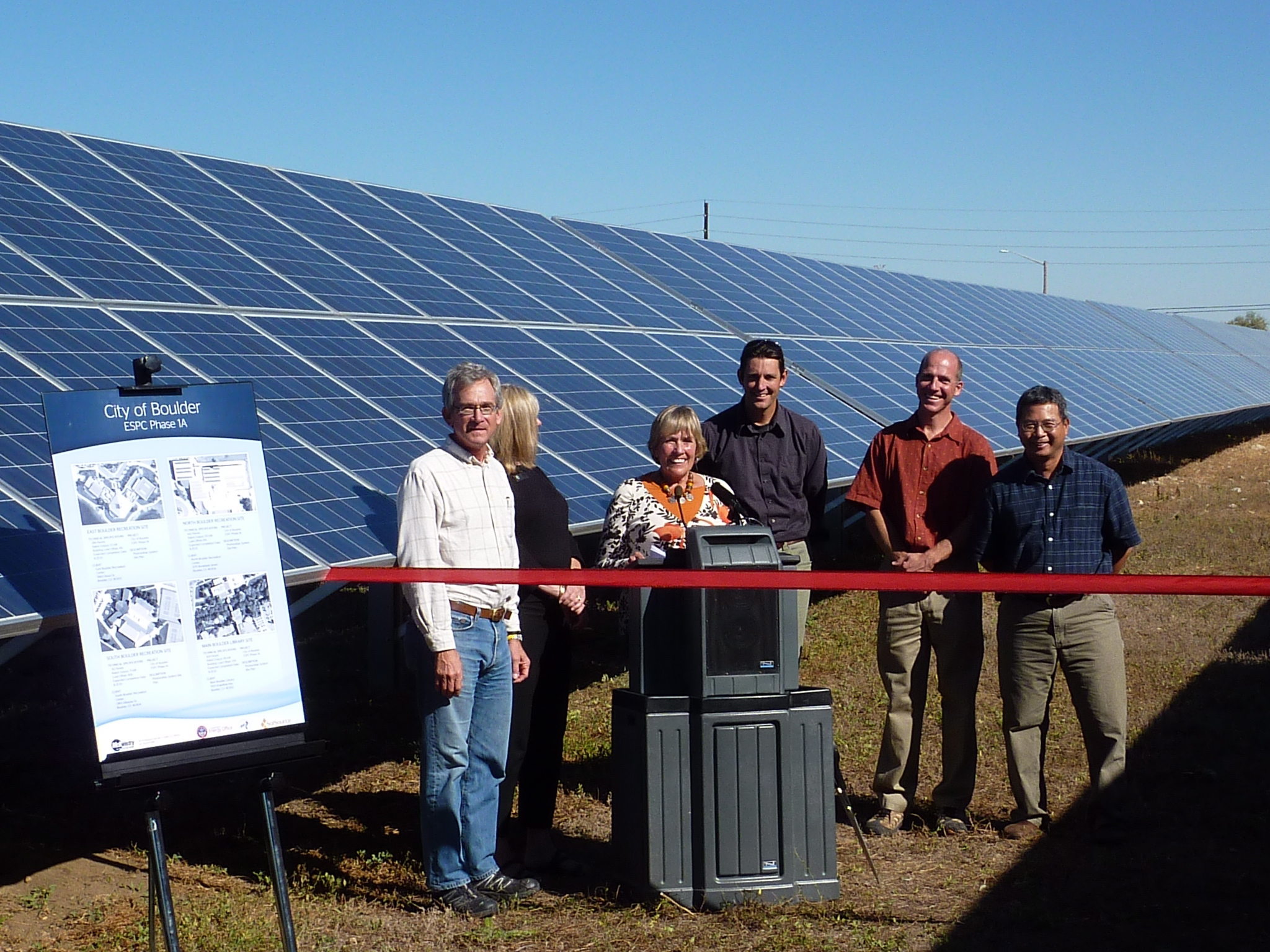 Boulder County officials at ribbon cutting ceremony