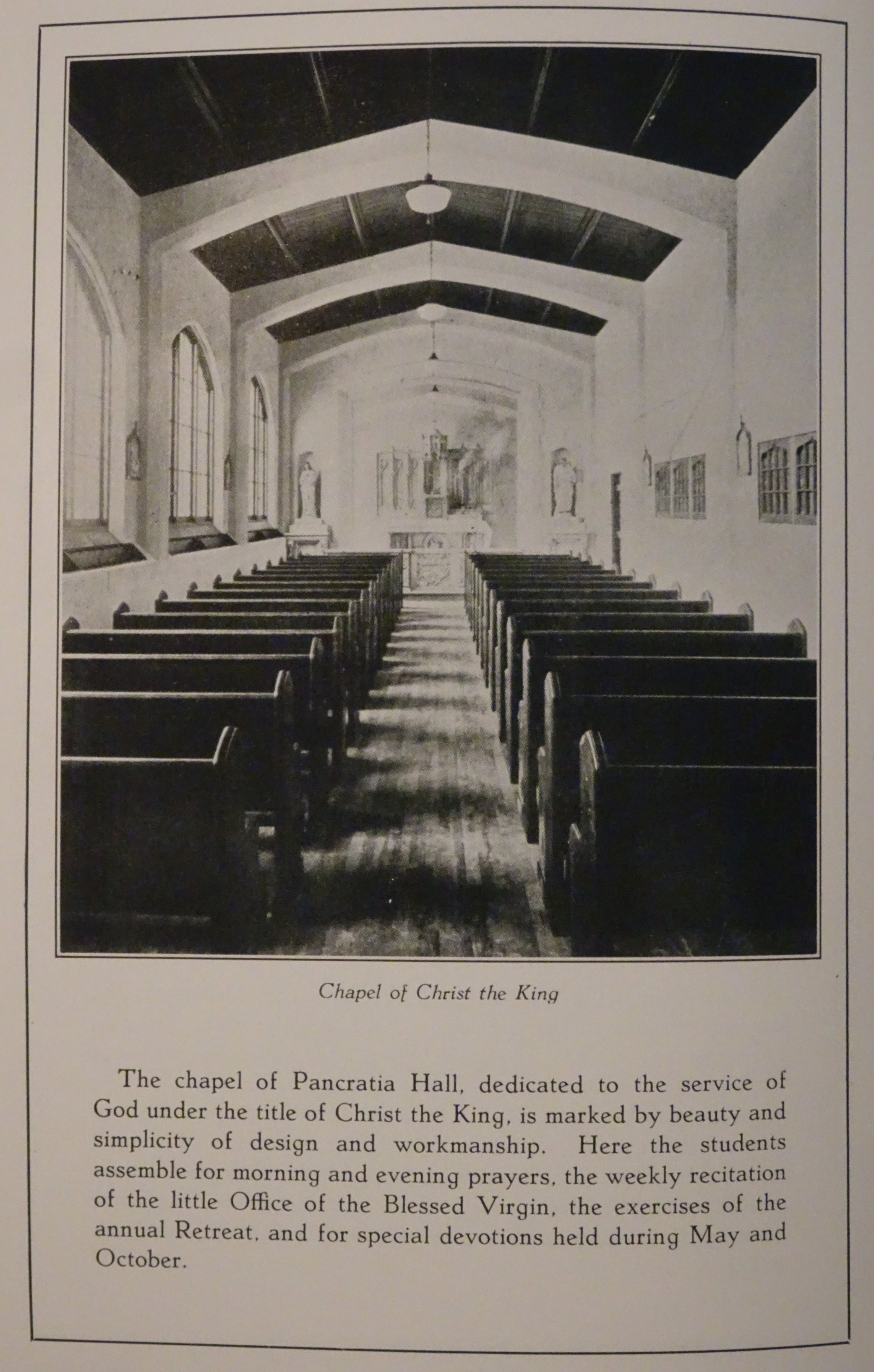 Pancratia Hall Chapel of Christ the King
