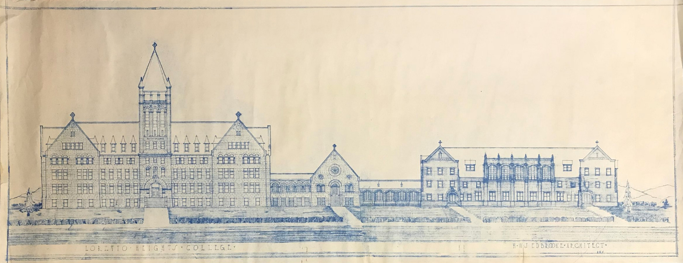 East Elevation with Administration Building, by Harry W.J.Edbrooke 1927