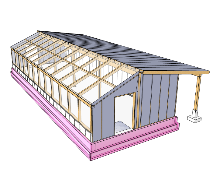 Passive Solar Greenhouse Plans - Image courtesy of  Verge Permaculture  and  Small Farm Academy