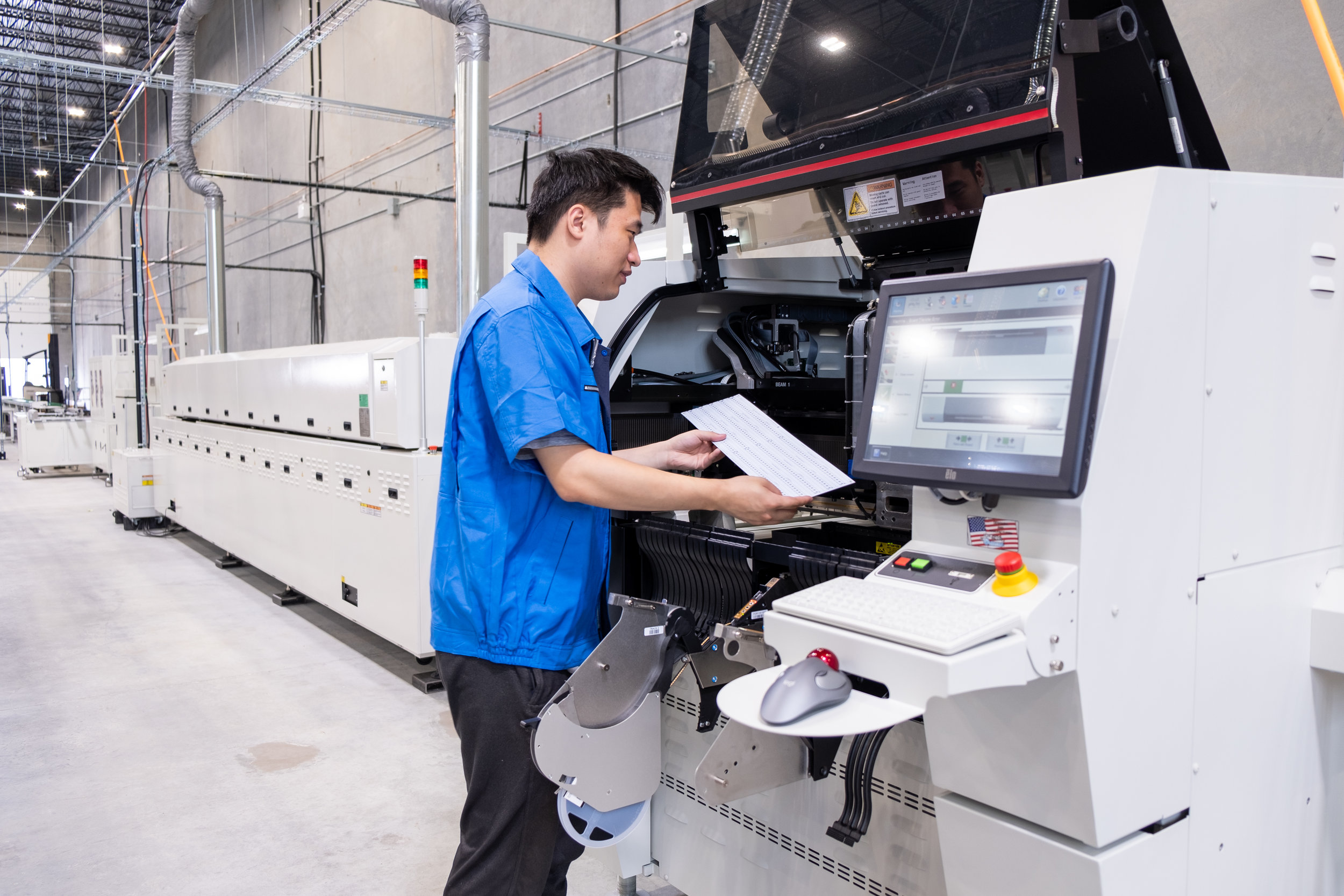 Sophisticated semi-automated and automated manufacturing lines allow for high speed, high quality production.