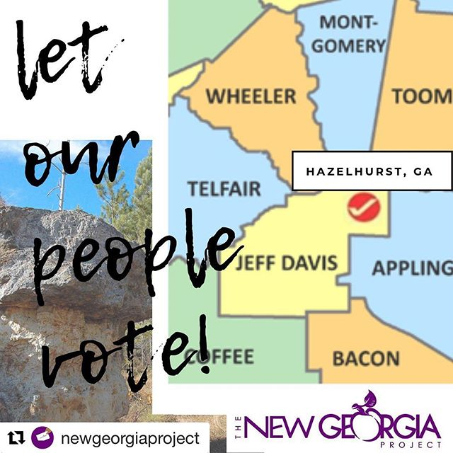 #Repost @newgeorgiaproject: The Election Commission in Jeff Davis County, GA is meeting this morning to decide on closing a majority-minority polling place in an area that has already experienced chaotic elections in 2018 due to a mismanaged consolidation of precincts in 2017. We are headed down there this morning to testify and make sure our folks maintain access. Are y'all with us?! Follow along for updates today!