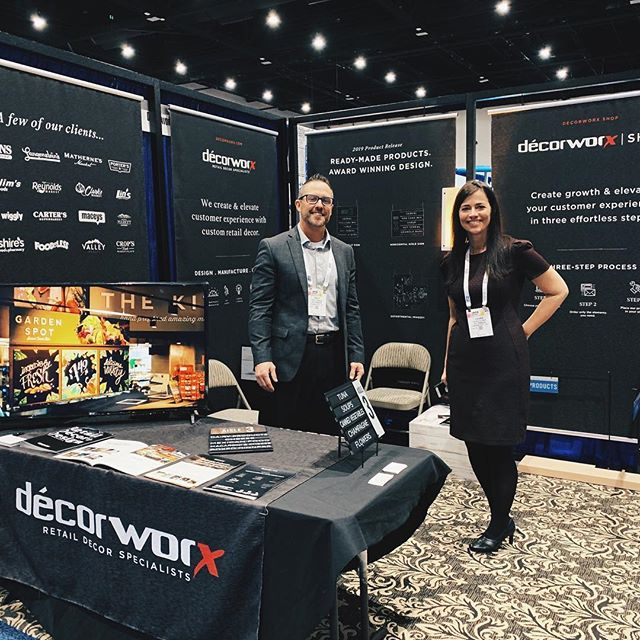 We're pretty excited to be the National Grocers Association conference in San Diego, CA today! If you happen to be there, visit us at our booth 325. Cool Fact: We designed, engineered, and manufactured our booth!#nationalgrocersassociation #nationalgrocers #foodshowseason #decorworx